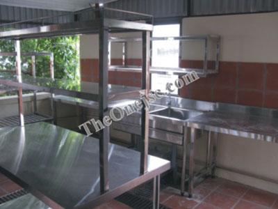 Sản xuất lắp đặt hệ thống bếp inox mini cho nhà hàng 40 Âu Cơ -Tây Hồ - HN